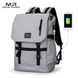 Mark Ryden grande capacité 15.6 pouces pochette d'ordinateur homme USB Design sac à dos sac noir sac à dos femmes sacs d'école Mochila Masculina