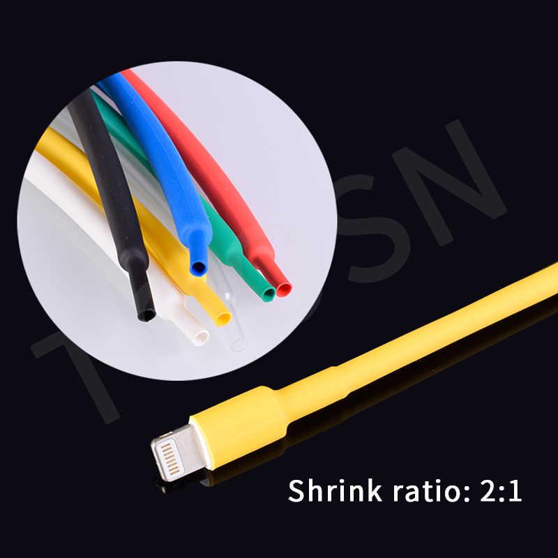 TOOSN 530pcs ความร้อนหดท่อหดตัวอัตราส่วน 2:1 ความร้อน Contra แขนสาย termoretractil PVC Tube ท่อห่อลวดสาย