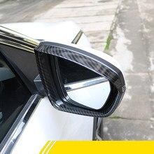 Apto para Peugeot 3008 Peugeot 5008 II GT 2017-2020 accesorios de Auto ABS Color carbono espejo retrovisor Escudo de cejas recorte cubierta 2 uds