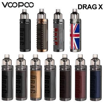 VOOPOO glisser X Mod Pod Kit 80W 4.5ml PnP Pod Tank GENE.TT puce e-cig Cigarette électronique vaporisateur Pod système Vape Kit VS glisser S