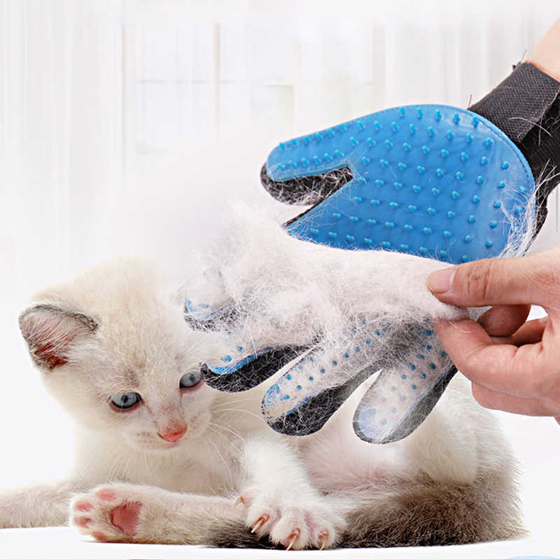 مستلزمات الحيوانات الأليفة سيليكون كلب مزيل الشعر قفازات الحيوانات الأليفة القط الاستمالة قفاز Deshedding فرشاة قفاز مع اختياري اليسار واليمين