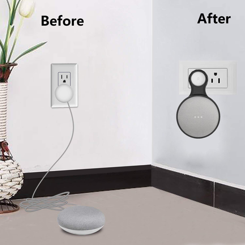 For Google Home Mini Voice Assistant Outlet Wall Mount Stand Hanger Holder Fit US/EU Plug NOT Fit UK Plug Smart Home
