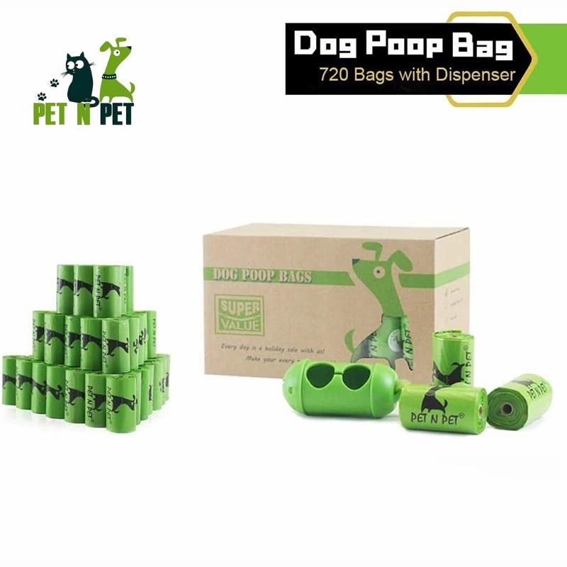 720/360 биоразлагаемых мешков для собачьего уборки, 24 рулона для заправки, большие и толстые неароматизированные экологически чистые отходы д...