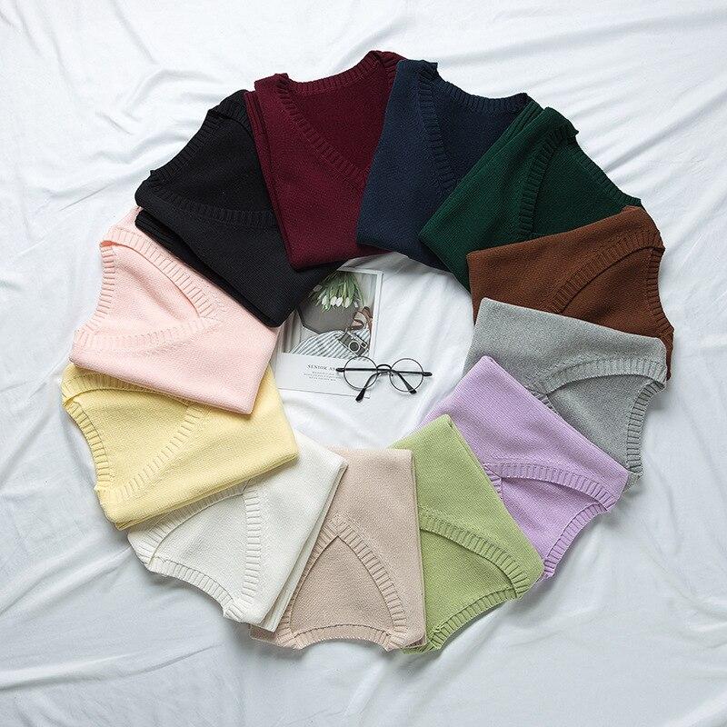 School JK Uniform Sweater Vest Sleeveless Waistcoat For Girls Boys Cosplay Halloween Winter Anime Vest 12 Colors Knitting Coat