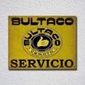 Металлическая вывеска Bultaco Servicio, металлический плакат, металлический декор, металлическая живопись, настенная наклейка, настенный знак, дек...