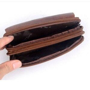 Image 5 - Nowi mężczyzna skóra bydlęca rocznik podróży telefonu komórkowego etui na telefon torba na pas kiesa piterek talii torba