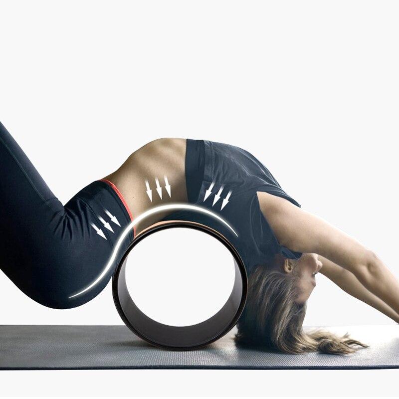 Roue de Yoga forte confortable Dharma Yoga roue de support pour Inversions dos de dos douleur étirement équilibre accessoire