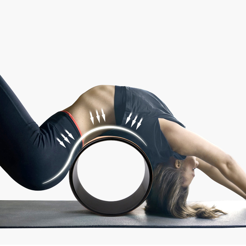 Yoga Wheel Strong Comfortable Dharma Yoga Prop Wheel For Inversions Backbends Back Pain Stretching Balance Accessory
