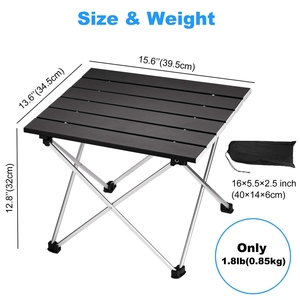 Image 2 - Portable Folding Camping Table Aluminum Desk Table Top Suitable for Outdoor Picnic Barbecue Cooking Holiday Beach Hiking Traveli