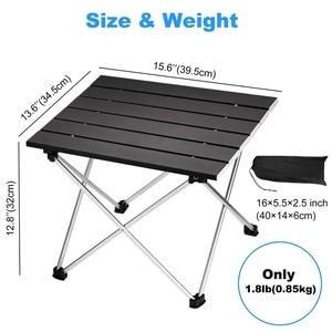 Image 2 - Tragbare Folding Camping Tisch Aluminium Schreibtisch Tisch Top Geeignet für Outdoor Picknick Grill Kochen Urlaub Strand Wandern Traveli