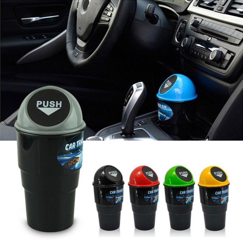 Автомобильный мини мусорный бак, автоматический креативный мусорный бак, автомобильный держатель для пыли, ящик, пружинная крышка, универс...