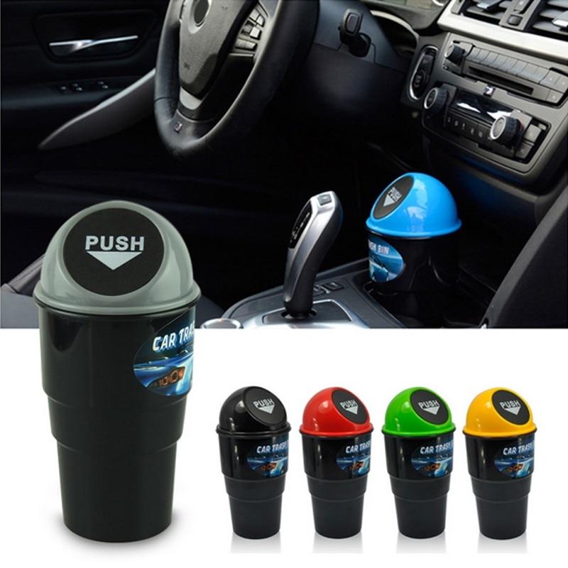 Mobil Mini Sampah Bisa Auto Kreatif Tempat Sampah Kendaraan Debu Pemegang Bin Kotak Spring Cover Universal Mobil Tempat Sampah Aksesoris