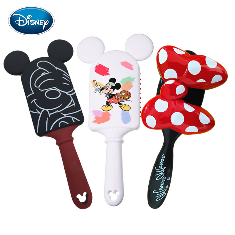 Disney 1pcs Cute Mickey Comb Kid Air Cushion Massage Comb Cute Frozen Mermaid Hairbrush Kids Gentle Anti-static Brush