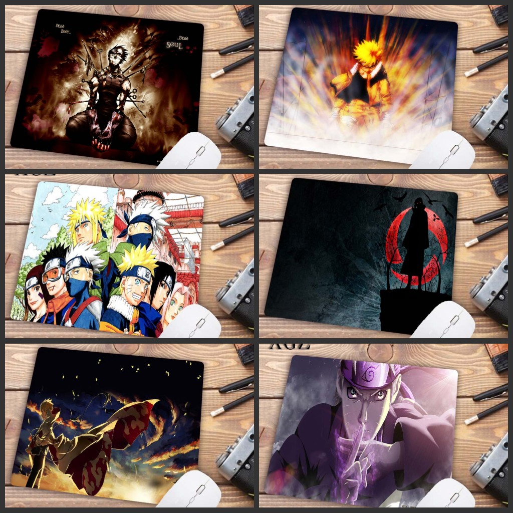 XGZ 22X18CM Top Quality Anime NARUTO Sasuke Laptop Computer Mousepad Top Selling Wholesale Gaming Pad Mouse Big Promotion
