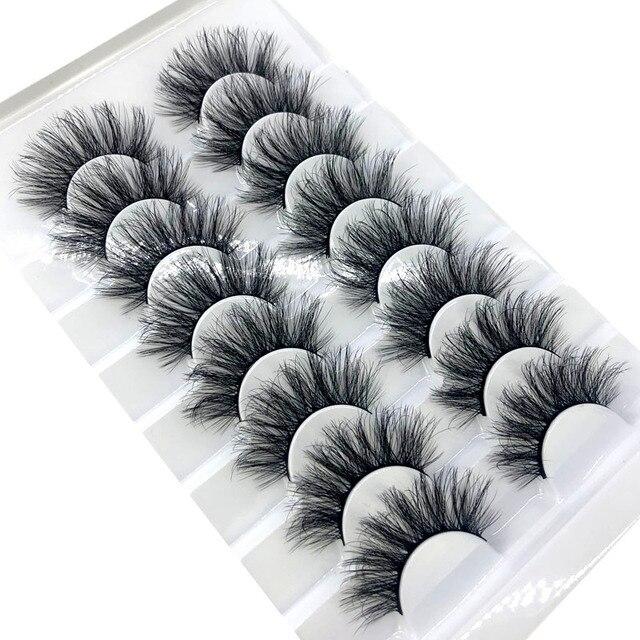 HBZGTLAD New 8 pairs 15-23mm natural 3D false eyelashes fake lashes makeup kit Mink Lashes extension mink eyelashes maquiagem 2