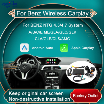 Wireless CarPlay Android Auto For Benz NTG5.0 System A B C E ML GAL GLC GLK GLA GLE GLS AMG Series Mirror Multimedia TV Box image