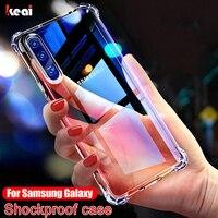 Caso a prueba de golpes para Samsung Galaxy A51 case A71 A50 A70 A30 A20 A10 A90 A41 A81 S9 S8 S10 S20 fe S21 Nota 20 Ultra 8 9 10 Plus cubierta cover transparente silicona carcasa