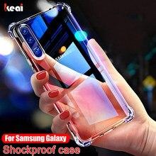 Étui antichoc Pour Samsung Galaxy A51 case A71 A50 A70 A30 A20 A10 A90 A41 A81 S9 S8 S10 S20 fe S21 Note 20 Ultra 8 9 10 Plus cover Couverture Arrière luxe transparente silicone coque telephone
