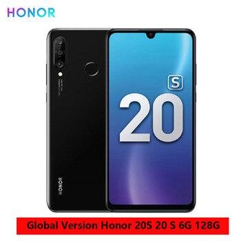 Перейти на Алиэкспресс и купить Huawei Honor 20S глобальная версия 6 ГБ 128 Гб Смартфон 48 МП Тройная камера 6,15 дюймDewdrop экран мобильные телефоны Kirin 710 Восьмиядерный