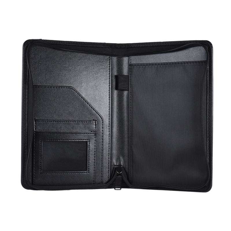 A5 PU Leather Office Organizer Portfolio Padfolio Folder For Business IPad/Table And Card Interview Resume Binder