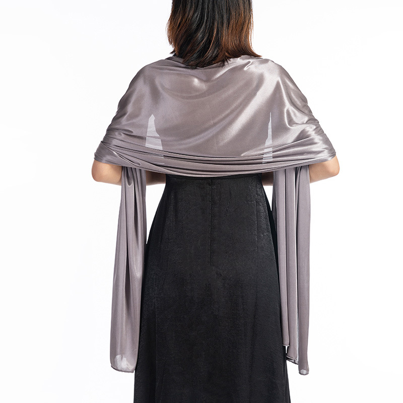 Shrugs And Boleros For Women Shawls For Dresses Evening Party Wrap Wedding Bridal Bolero Satin Pure Color Cape Bolero