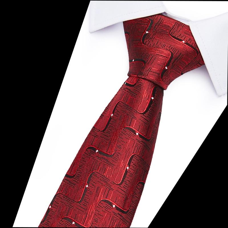 Man's Neck Tie For Wedding Business Man Gifts 100% Silk Jacquard Woven Ties New Slim Luxury Tie  Men 6cm Skinny  Neckties