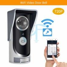 10 sztuk/partia srebrzyste 720P bezprzewodowy videoportero dos camaras wifi vedio domofon telefon drzwi kamera darmowa wysyłka 1MP audio VF-DB01