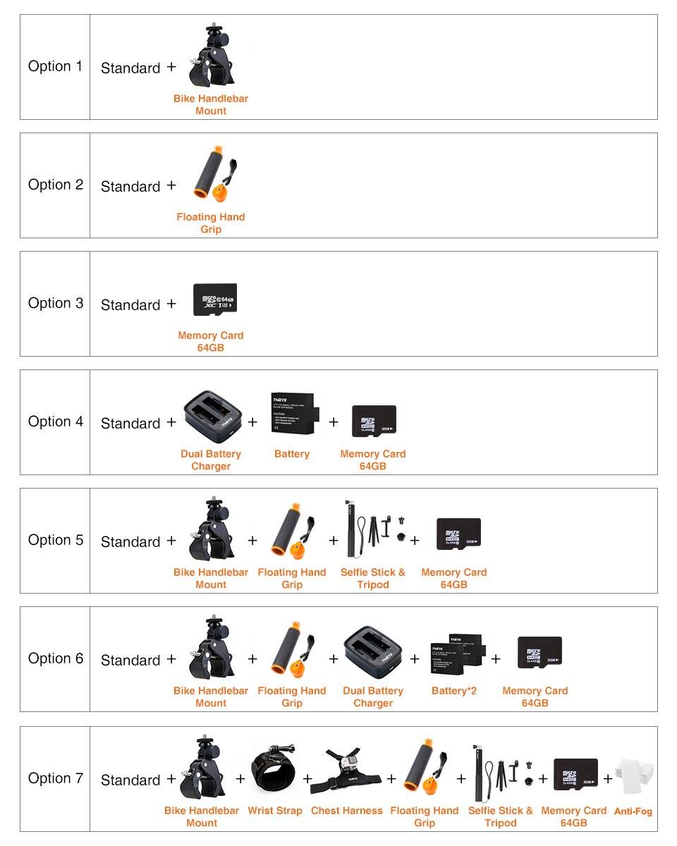 ThiEYE T5 Pro avec caméra d'action WiFi en direct caméra de Sport 4K Ultra HD réelle avec télécommande à distorsion EIS 60M étanche - 6