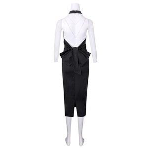 Image 5 - Blanco negro Halter espalda descubierta vestidos de cóctel vestidos coctel 2019 semi formal vestido azul de fiesta mujeres Sexy traje de Graduación