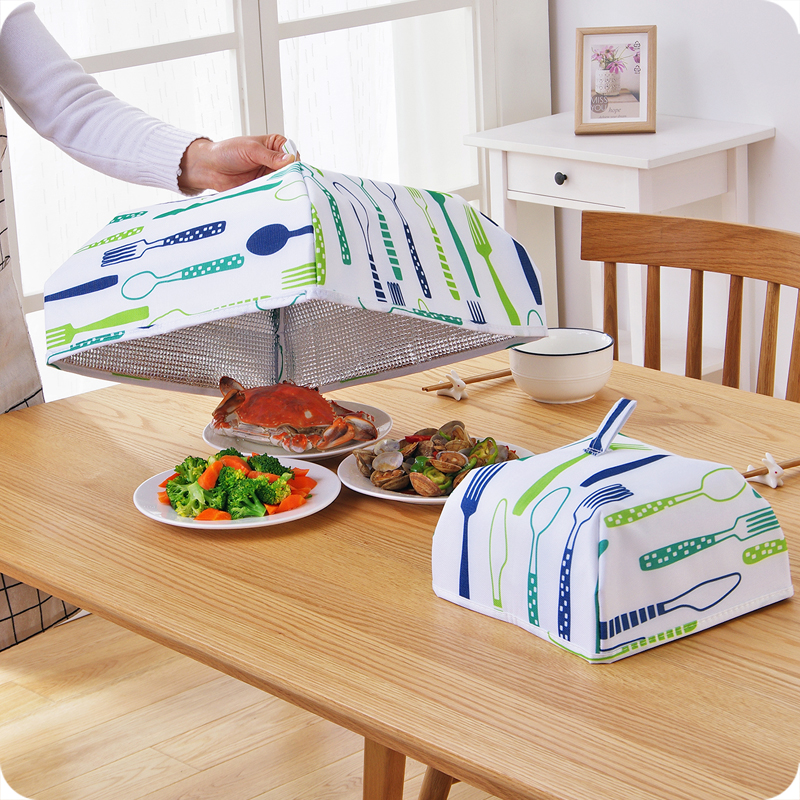 Aluminum Foil Dining Table Cover Dishes Insulation Foldable Cover Food Keep Warm