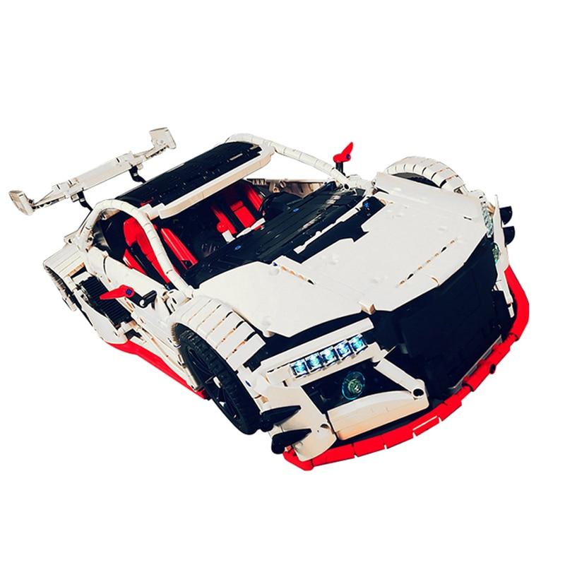 MOC-10858 Technic Series NSX Sports Car Motor Power Function Fit Technic Kits Building Blocks Bricks Toys For Children Xmas Gift