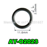 free shipping 200pieces good quality fuel injector o ring 11.6*2.59mm rubber seals for fuel injector repair kit (AY O2023)
