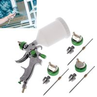Hot 1.4/1.7/2.0mm G2008 Nozzles HVLP Spray Gun Set Sprinkling Paint Can With High Working Pressure Professional Atomizer