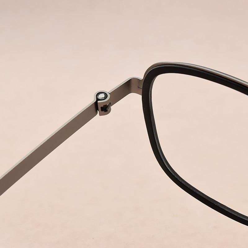 Image 2 - 2019 fashion brand Square eyeglasses Women's titanium glasses frame men optical glasses frame women spectacle frames Men's 9708-in Men's Eyewear Frames from Apparel Accessories