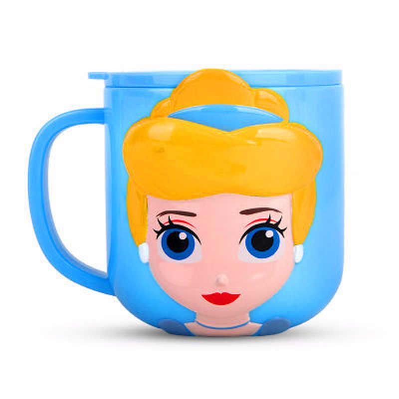 Дисней детские чашки безопасный ABS животное Милая Детская Бутылочка с ручкой безопасный для природы материал детские принадлежности для питья дома вода молоко щетка чашка