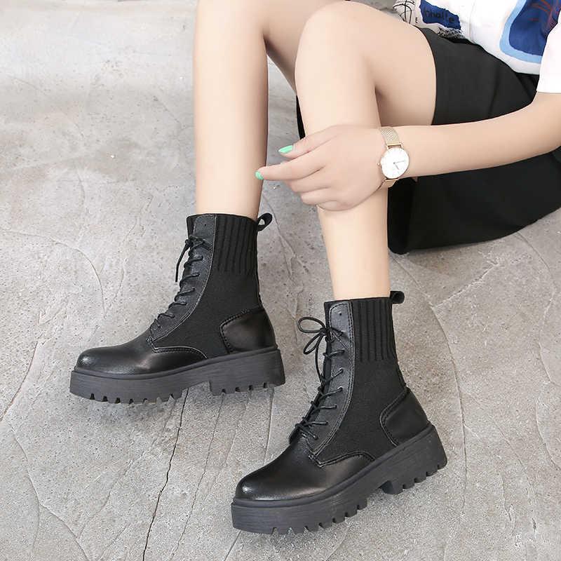 Kadın Rahat Bahar Hakiki Deri Botlar Kadın yarım çizmeler Kar Botları Kadın Hakiki deri ayakkabı Kış Için Tekneler * 13737