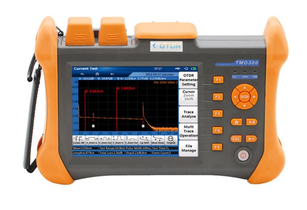TMO-300-SM 32/30dB 1310/1550nm SM OTDR Tester Built-in 10mW VFL Optical Fiber Test