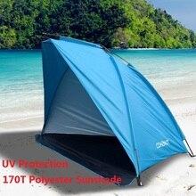 Tomshoo barraca de praia ao ar livre sol abrigo 2 pessoa resistente 170t poliéster toldo tenda para a pesca acampamento caminhadas piquenique parque