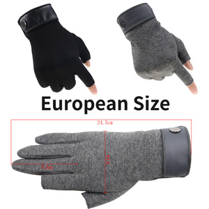 Image 2 - Winter Men Mitten 2 Fingers Exposed Keep Warm Touch Screen Windproof Thin Guantes Driving Anti Slip Outdoor Fishing Male Gloves