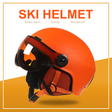 moon goggles skiing helmet integrally molded pc eps colorful ski helmet outdoor sports ski snowboard skateboard helmets Ski Helmet Snow Skateboard Helmet Ski Snowboard Helmet Integrally-molded Skiing Helmet For Adult and Kids