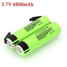 3.7V 6800mAh 1S NCR18650B akumulator litowy wędkowanie LED Light głośnik Bluetooth 4.2V lutowania nikiel arkusz DIY baterie
