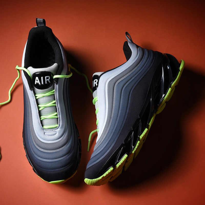 Marka Yeni koşu ayakkabıları Erkekler Için hava yastığı Örgü Nefes Aşınmaya dayanıklı Sıcak 2019 Fitness Eğitmeni spor ayakkabılar Koşu Sneakers
