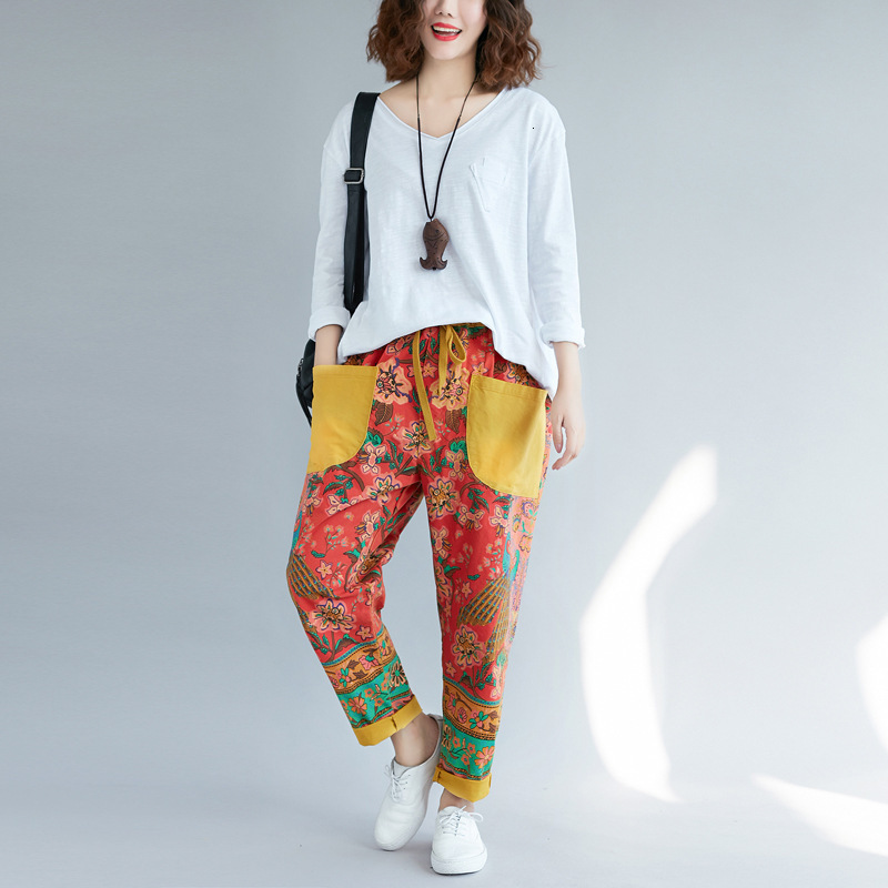 Fashion 2020 New Ethnic Casual Print Jeans For Women's Wear