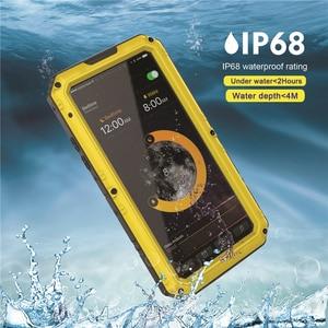 Image 2 - Funda protectora de Metal resistente para Iphone, carcasa resistente al agua Ip68, a prueba de golpes, para Iphone 11 Pro X Xs Max Xr 6 6S 7 8 Plus Se 360, 2020