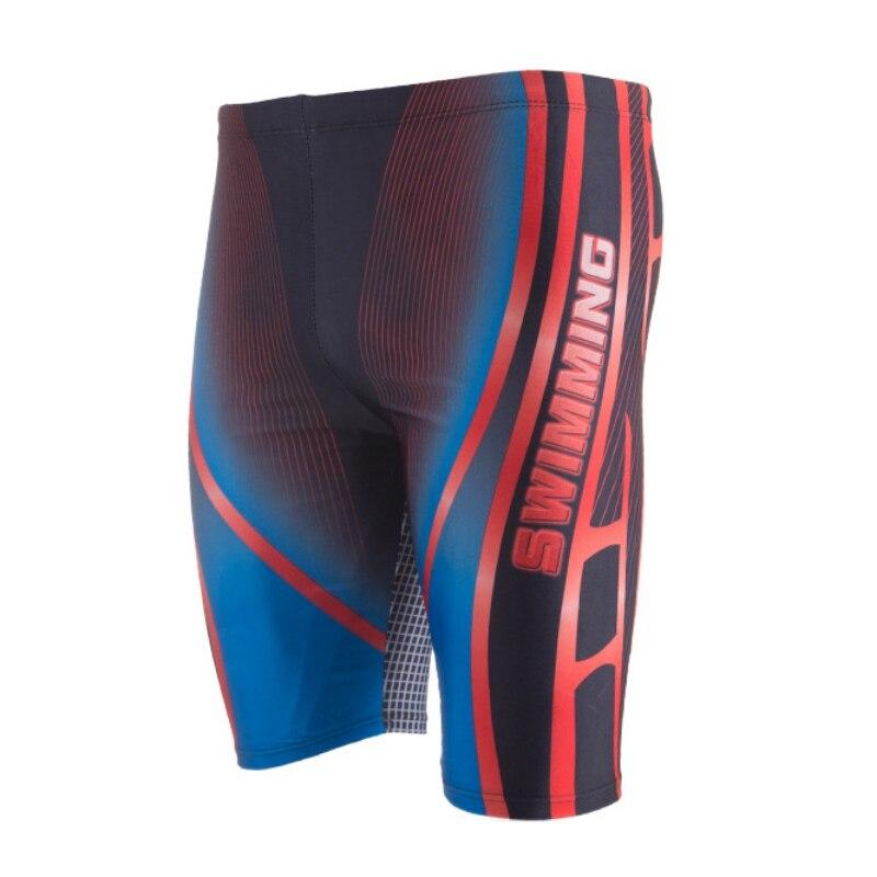 Men Swimwear  Quick Dry Swimming Trunks Breathable Swimsuit Print Boxer Briefs Bathing Suit Surf Board Wear Summer