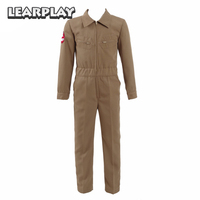 Stranger Things Season 2 Ghostbusters Jumpsuit Cosplay Costumes Brown Halloween Christmas Outfit For Kids Boys Adult Full Set