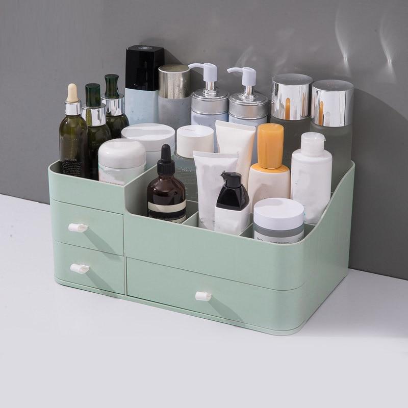 Caixa de armazenamento de maquiagem de grande capacidade cosméticos organizar gaveta organizador de maquiagem titular penteadeira recipiente sundries caso