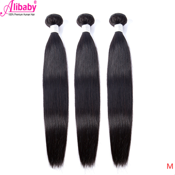 Peruvian Hair Bundles Straight Human Hair Weave Bundles Remy Hair Extension Natural Black 1/3/4 Pcs 30 40 Inches Alibaby Hair M