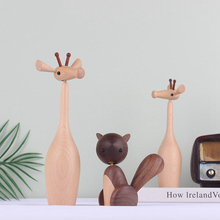 Home Decor Upgraded Wooden Ornaments Giraffe Imported Beech Wood Parts Can Be 360 Degrees Activity Play Gifts