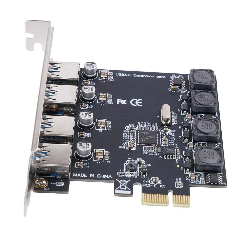 Карта расширения ORICO PCI-E Express с 4 портами USB 3,0, супер скоростная 5 Гбит/с, PCI-E, адаптер для настольных ПК, компонентов компьютера, Win10
